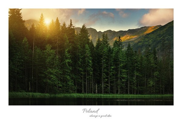 Sunrise at Smreczynski Pond